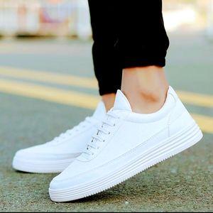 Mens/Women(unisex) Shoe  Genuine PU leather,Color : white, Size 9(43)